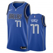 Barn Basketball Drakter Dallas Mavericks 2019-20 Luka Doncic 77# Blå Icon Edition Swingman Drakt..