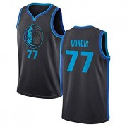 Barn Basketball Drakter Dallas Mavericks 2019-20 Luka Doncic 77# City Edition Swingman Drakt..
