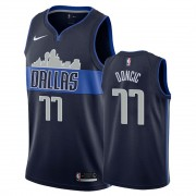 Dallas Mavericks NBA Basketball Drakter 2019-20 Luka Doncic 77# Marinen Statement Edition Swingman D..