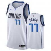 Dallas Mavericks NBA Basketball Drakter 2019-20 Luka Doncic 77# Hvit Association Edition Swingman Dr..