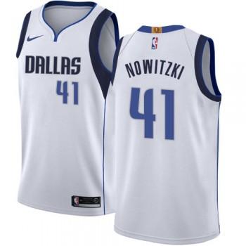 Barn Basketball Drakter Dallas Mavericks 2018 Dirk Nowitzki 41# Association Edition Swingman