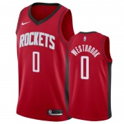 Barn Basketball Drakter Houston Rockets 2019-20 Russell Westbrook 0# Rød Icon Edition Swingman Drakt..