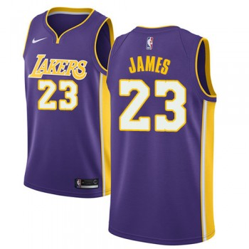 Barn Basketball Drakter Los Angeles Lakers 2018 LeBron James 23# Statement Edition Swingman