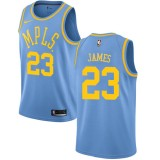 Los Angeles Lakers NBA Basketball Drakter 2018 LeBron James 23# Light Blue Hardwood Classics