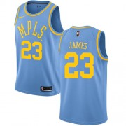 Barn Basketball Drakter Los Angeles Lakers 2018 LeBron James 23# Light Blue Hardwood Classics Swingman