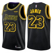 Barn Basketball Drakter Los Angeles Lakers 2018 LeBron James 23# City Edition Swingman..