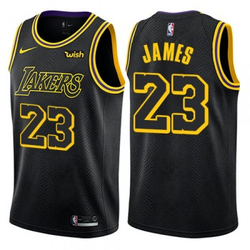 Barn Basketball Drakter Los Angeles Lakers 2018 LeBron James 23# City Edition Swingman